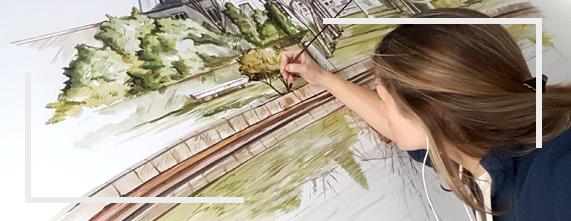 pintura mural tienda