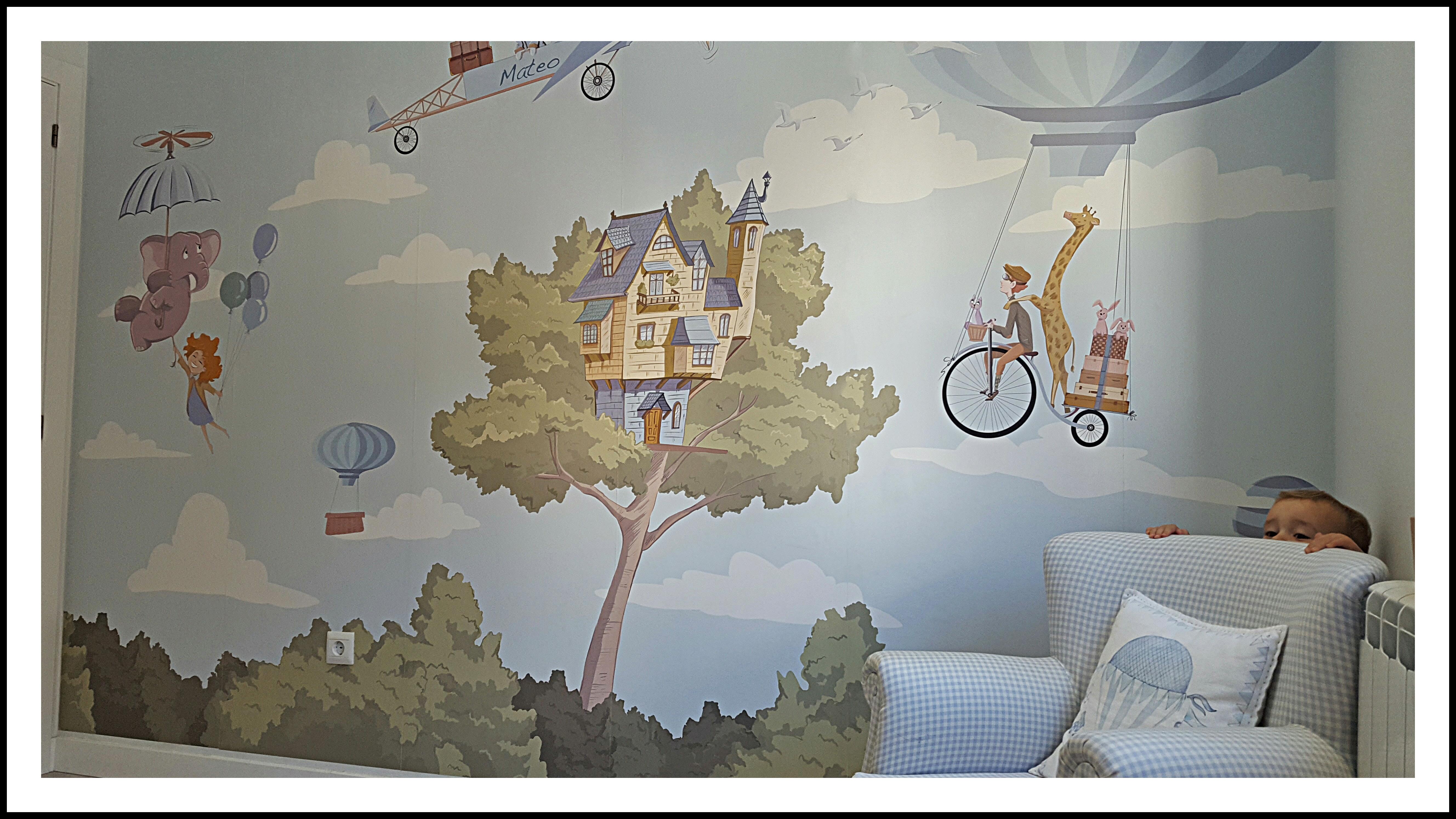 Video sobre como colocar un papel pintado o fotomural for Colocar papel mural